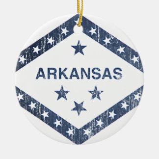 Arkansas Flag Christmas Ornament