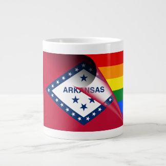 Arkansas Flag Gay Pride Rainbow Large Coffee Mug