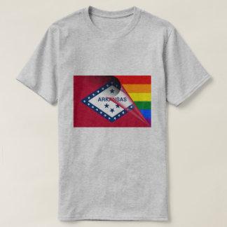 Arkansas Flag Gay Pride Rainbow T-Shirt