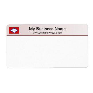Arkansas Flag Header Shipping Label
