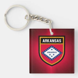 Arkansas Flag Key Ring