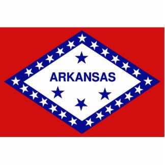Arkansas Flag Keychain Cut Out