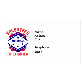 Arkansas Flag Volunteer Firefighter Cross Pack Of Standard Business Cards