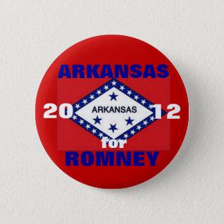 Arkansas for Romney 2012 6 Cm Round Badge