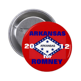 Arkansas for Romney 2012 6 Cm Round Badge