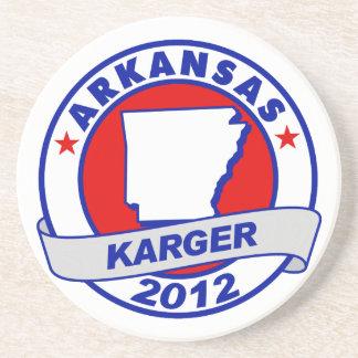 Arkansas Fred Karger Beverage Coaster