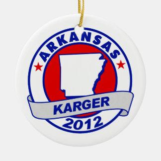 Arkansas Fred Karger Christmas Ornament