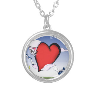 arkansas head heart, tony fernandes silver plated necklace