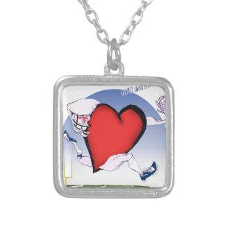 arkansas head heart, tony fernandes silver plated necklace