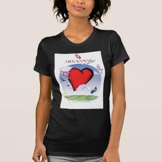 arkansas head heart, tony fernandes T-Shirt