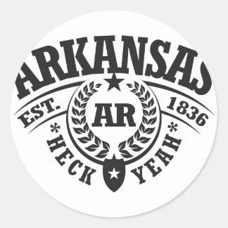 Arkansas, Heck Yeah, Est. 1836 Round Stickers