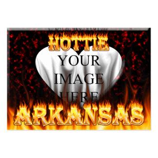 arkansas hottie fire and flames business card templates