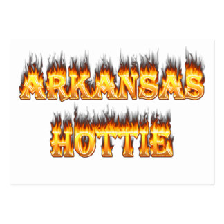 Arkansas Hottie Fire and Flames Business Card Template
