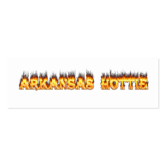 Arkansas Hottie Fire and Flames Business Card Templates