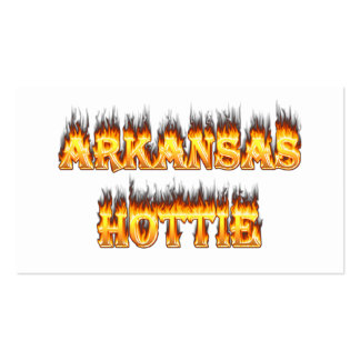 Arkansas Hottie Fire and Flames Pack Of Standard Business Cards