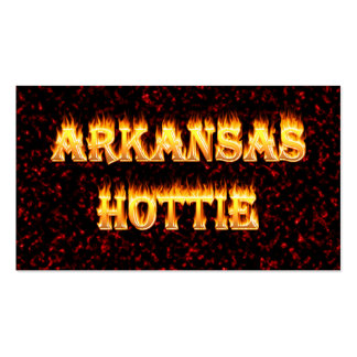 Arkansas hottie in fire and flames business cards
