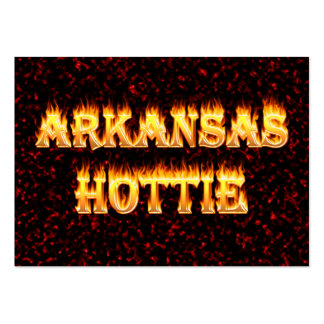 Arkansas hottie in fire and flames pack of chubby business cards