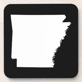 Arkansas in White Coaster