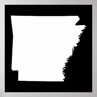 Arkansas in White Poster