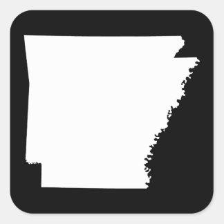 Arkansas in White Square Sticker