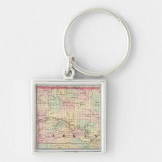 Arkansas, Indian Territory Key Ring