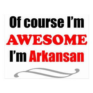 Arkansas Is Awesome Postcard