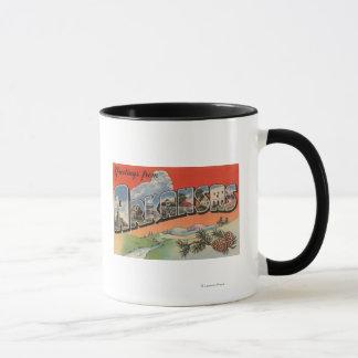 Arkansas (Landscape Scene) - Large Letter Mug