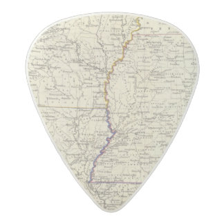 Arkansas, Louisiana and Mississippi Acetal Guitar Pick