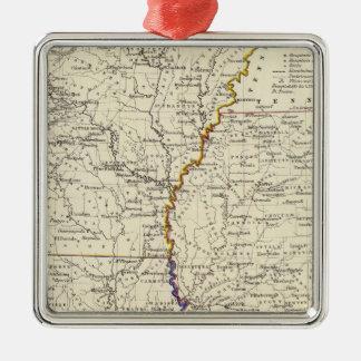 Arkansas, Louisiana and Mississippi Christmas Ornament