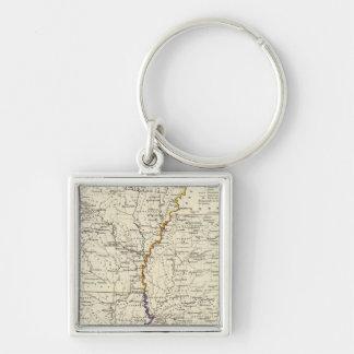 Arkansas, Louisiana and Mississippi Key Ring