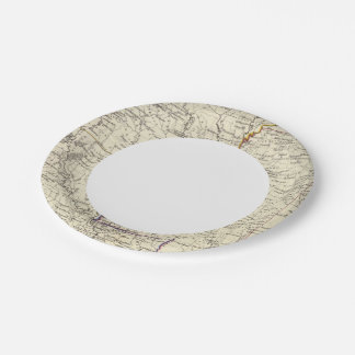 Arkansas, Louisiana and Mississippi Paper Plate