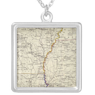 Arkansas, Louisiana and Mississippi Silver Plated Necklace