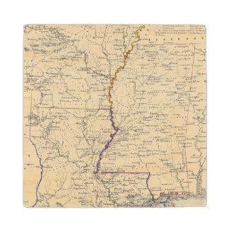 Arkansas, Louisiana and Mississippi Wood Coaster