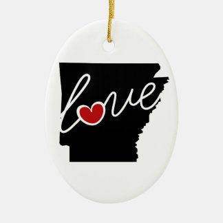 Arkansas Love!  Gifts for AK Lovers Christmas Ornament