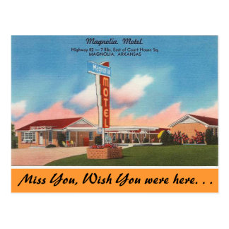 Arkansas, Magnolia Motel Postcard