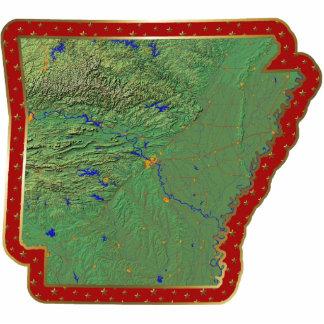 Arkansas Map Christmas Ornament Cut Out