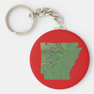 Arkansas Map Keychain