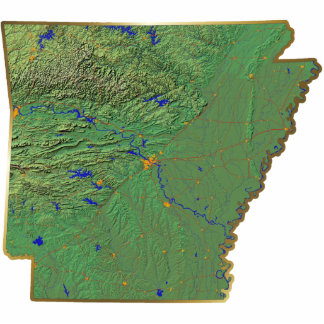 Arkansas Map Magnet Cut Out