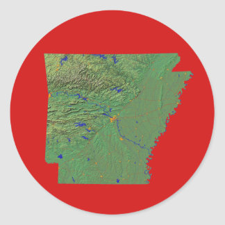Arkansas Map Sticker