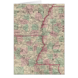 Arkansas, Mississippi, and Louisiana Card