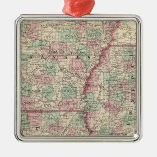 Arkansas, Mississippi, and Louisiana Christmas Ornament