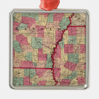 Arkansas, Mississippi, and Louisiana Silver-Colored Square Decoration