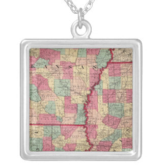Arkansas, Mississippi, and Louisiana Silver Plated Necklace