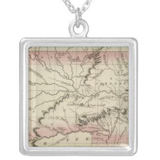 Arkansas, Oklahoma Silver Plated Necklace