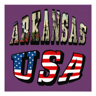 Arkansas Picture and USA Flag Text Announcements