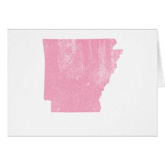 Arkansas Pink Vintage Grunge Card