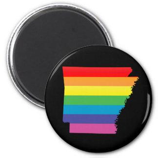 arkansas pride. 6 cm round magnet