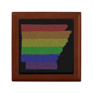 Arkansas Rainbow Pride Flag Mosaic Gift Box