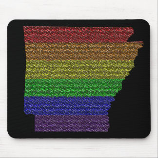 Arkansas Rainbow Pride Flag Mosaic Mouse Pad