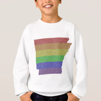 Arkansas Rainbow Pride Flag Mosaic Sweatshirt